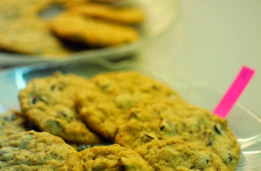 Butter versus margarine: Oatmeal chocolate chip cookies