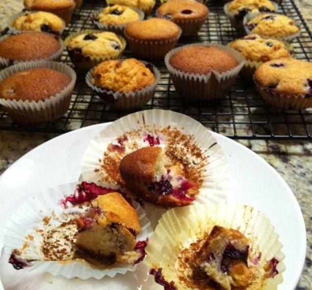 Food Lab: Blueberry muffins (sugar vs. sweetener)