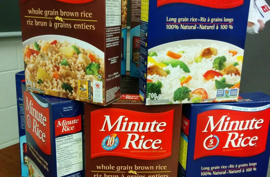 Boxes of Minute Rice