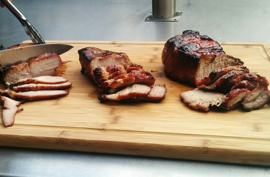 The char siu (Chinese BBQ pork) cook-off
